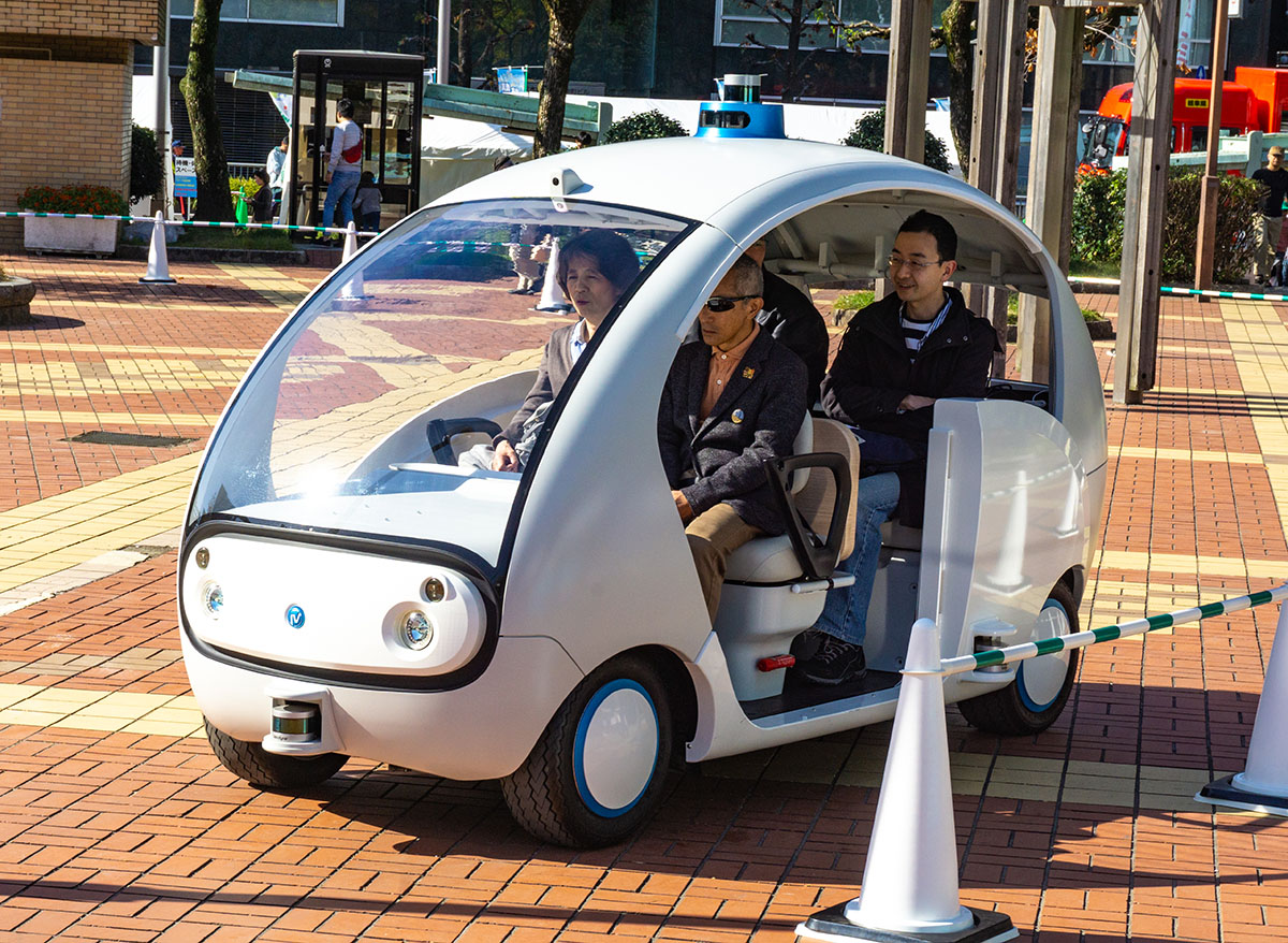 トランジットモール 自動運転デモ