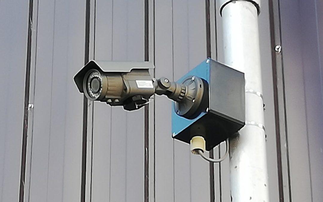 防犯カメラを設置しました。