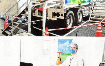 朝日大学病院、車両コンテナでコロナ診療導入